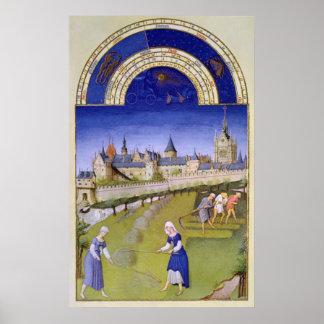 Fascimile of June: Haymaking Poster