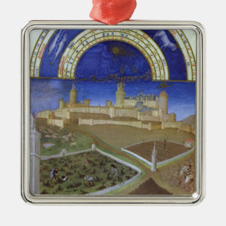 Fascimile of March: Peasants at Work Christmas Ornament