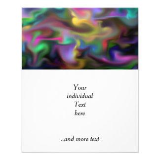 fascination fluid, multicolor flyer design