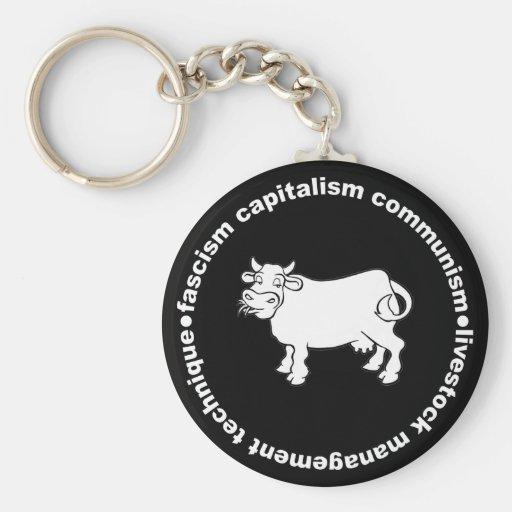 Fascism Capitalism Communism Livestock Management Key Chain