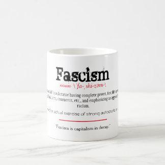 Fascism Definition Political Statement Red Coffee Mug