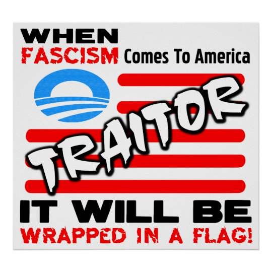 Fascism In A Flag! Poster