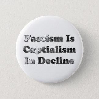 Fascism Is Capitalism In Decline 6 Cm Round Badge