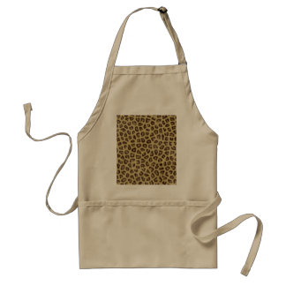 Fashinable leopard skin fluffy fur effect standard apron