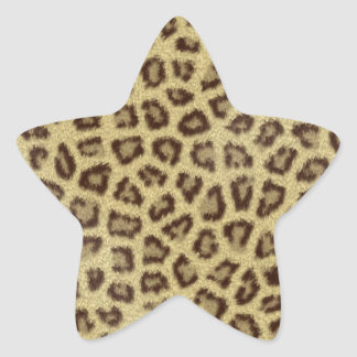 Fashinable leopard skin fluffy fur effect star sticker