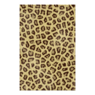 Fashinable leopard skin fluffy fur effect stationery