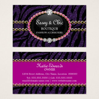Fashion Accessory and Jewelry Business Cards