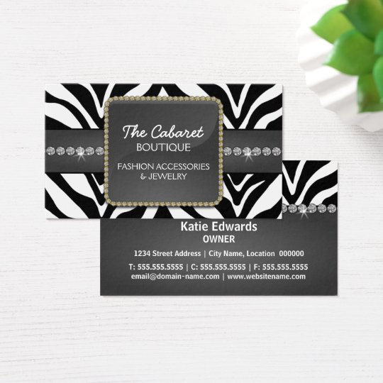Fashion Accessory & Jewellery Business Card