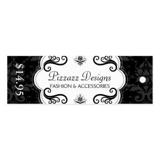 Fashion and Accessory Boutique Hang Tags Pack Of Skinny Business Cards