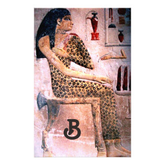 FASHION AND BEAUTY OF ANTIQUE EGYPT MONOGRAM STATIONERY