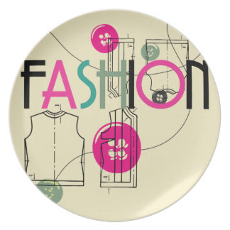 Fashion and Button and Thread Plate