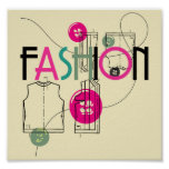 Fashion and Button and Thread Posters
