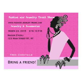 Fashion and Jewelry Trunk Show Postcard