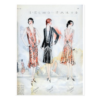 Fashion, April, 1928 Post Cards