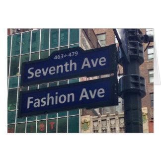 Fashion Avenue Street Sign NYC Card