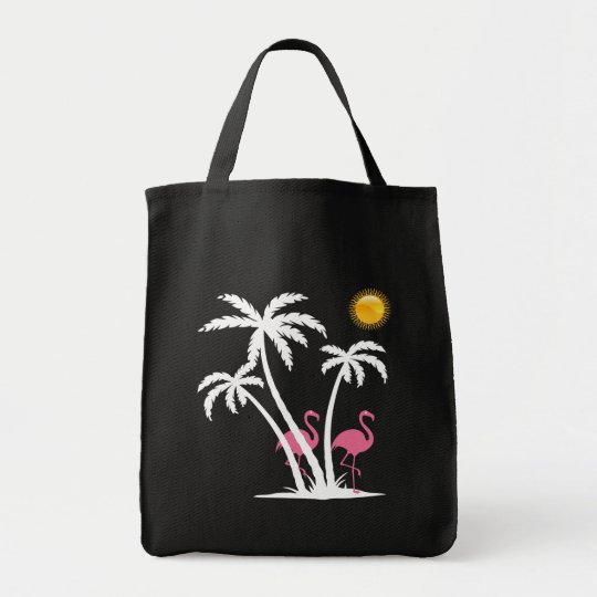 Fashion Beach Flamingo Theme Tote Bag