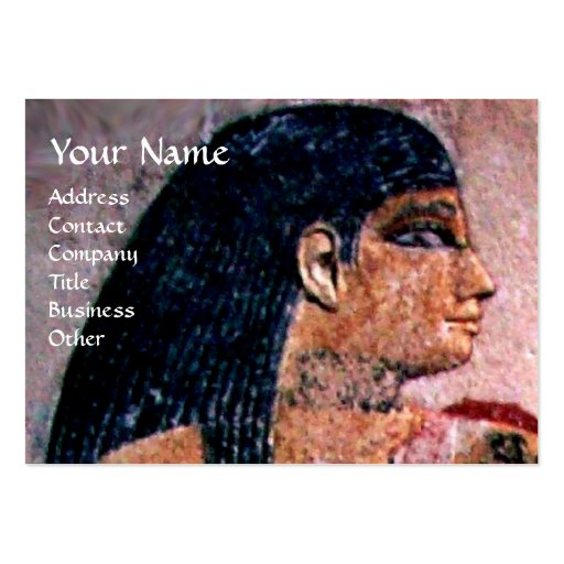 FASHION & BEAUTY OF ANTIQUE EGYPT MONOGRAM BUSINESS CARDS