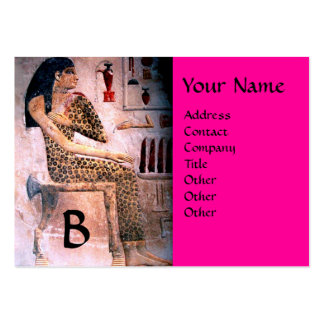 FASHION & BEAUTY OF ANTIQUE EGYPT MONOGRAM fuchsia Pack Of Chubby Business Cards