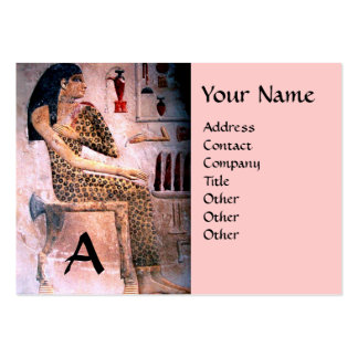 FASHION & BEAUTY OF ANTIQUE EGYPT MONOGRAM pink Pack Of Chubby Business Cards