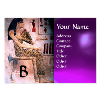 FASHION & BEAUTY OF ANTIQUE EGYPT MONOGRAM purple Pack Of Chubby Business Cards