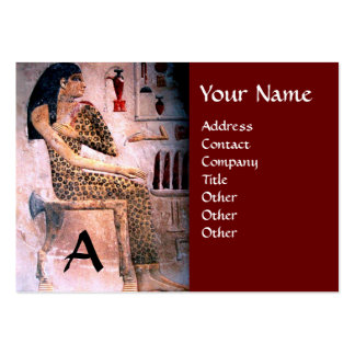 FASHION & BEAUTY OF ANTIQUE EGYPT MONOGRAM red Pack Of Chubby Business Cards
