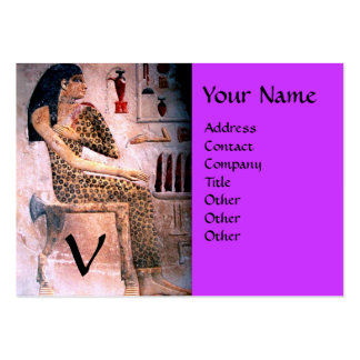 FASHION & BEAUTY OF ANTIQUE EGYPT MONOGRAM violet Pack Of Chubby Business Cards