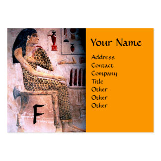 FASHION & BEAUTY OF ANTIQUE EGYPT MONOGRAM yellow Pack Of Chubby Business Cards