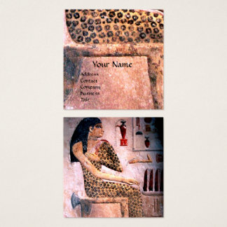 FASHION & BEAUTY OF ANTIQUE EGYPT Pink Square Business Card
