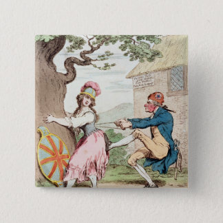 Fashion Before Ease or A Good Constitution...' 15 Cm Square Badge
