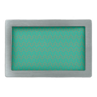 Fashion Belt Buckle, Emerald Green Geometric Rectangular Belt Buckles