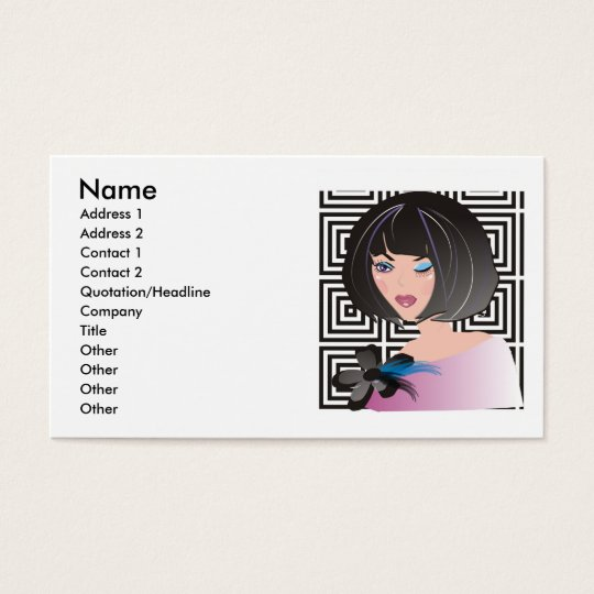 Fashion boutique, beauty salon or makeup artist business card