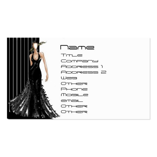 Create Your Own Fashion Designer Business Cards Page4