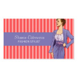 Fashion Business Card Pink and Lavender