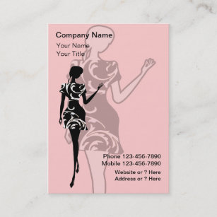 Womens fashion boutique business cards zazzle uk fashion business cards reheart Gallery