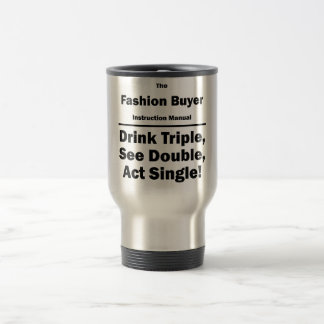 fashion buyer stainless steel travel mug