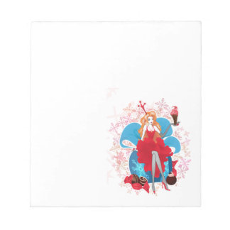 Fashion Christmas stylish red gray illustration Notepad