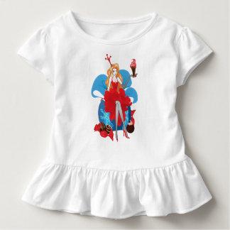 Fashion Christmas stylish red gray illustration Toddler T-Shirt