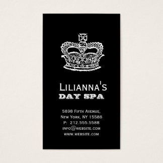 Fashion Crown Salon Spa Black Business Card