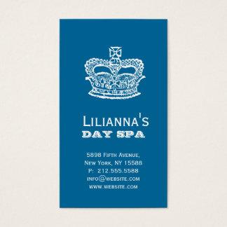 Fashion Crown Salon Spa Denim blue Business Card