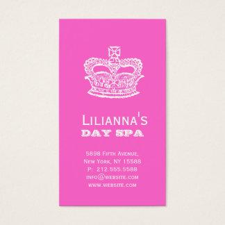 Fashion Crown Salon Spa Trendy Pink Business Card