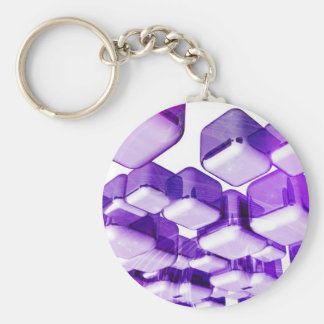 Fashion cubes basic round button key ring