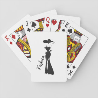 Fashion Cute Girly Vintage Art Deco Design Playing Cards