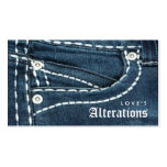 Fashion Denim Jeans Alterations Sewing Pack Of Standard Business Cards