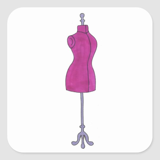 Fashion Design Designer Pink Mannequin Stickers