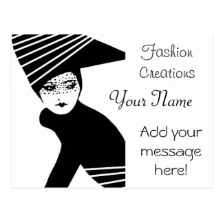 Fashion Designer Advertisement Postcard
