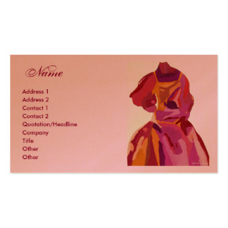 Fashion Designer Autumn Dress Business Cards