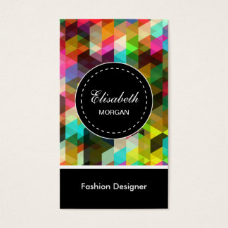 Fashion Designer- Colorful Mosaic Pattern Business Card