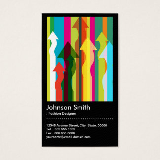Fashion Designer - Colorful & QR Code Business Card
