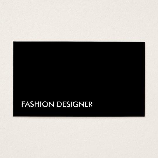 Fashion Designer Elegant Professional Simple Black Business Card