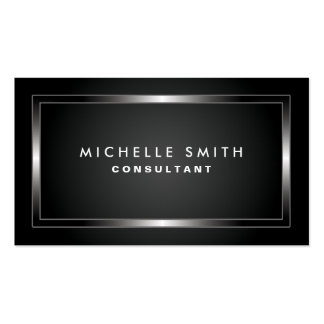 Fashion Designer Professional Elegant Black Plain Business Card Templates